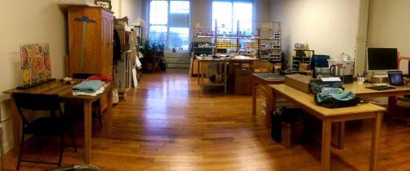 fused glass studio space